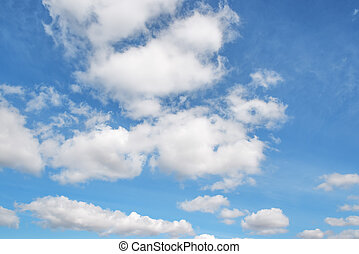 Clouds on blue sky - Image of white clouds on blue sky