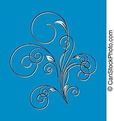 Retro Swirl Design Floral