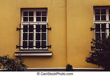 House windows - Windows of the old city houses