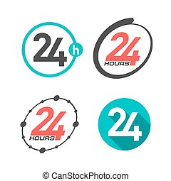 24 hours a day signs