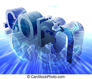 Dot com internet - Dot com website internet web url Asia...