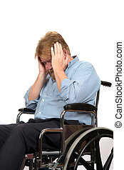 Man With Depression In Wheelchair