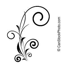 Retro Swirl Floral Design