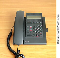 digital(ISDN) telephone    on color background
