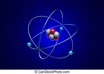 Atom - The image of the atom for school textbooks...