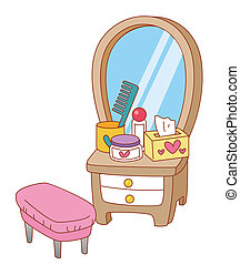 dresser - a nice picture of a dresser with many things on it...