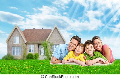 nuevo, casa, familia