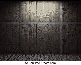vector wooden wall background