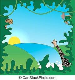 Fun jungle frame
