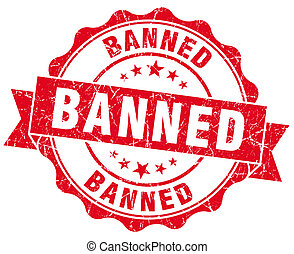banned red vintage isolated seal
