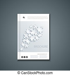 Vector flyer or banner Brochure template des