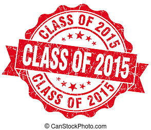class of 2015 red vintage isolated seal