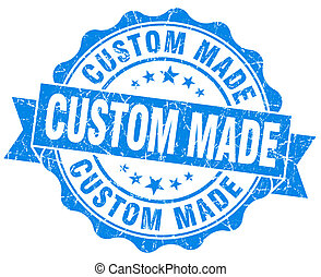 custom made blue vintage isolated seal