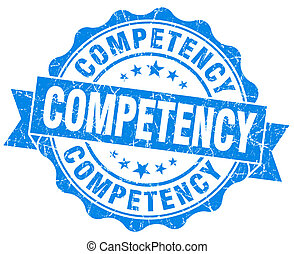 competency blue vintage isolated seal