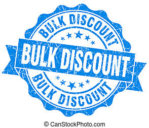 bulk discount blue vintage isolated seal