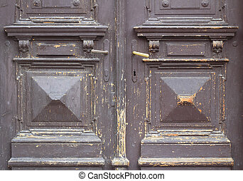 Old and worn brown door texture