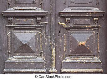 Old and worn brown door texture