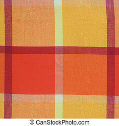 Colorful plaid table cloth texture
