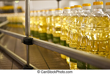 Factory for the production of edible oils. Shallow DOFF....