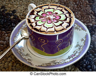 Fancy Cappuccino Coffee