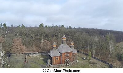 Aerial view of the mystical church - Aerial vilonely church...