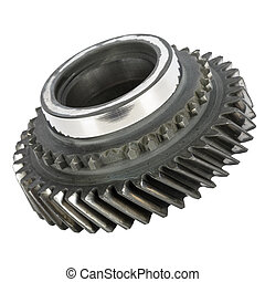 Worn out cog wheel removed from the main shaft of gearbox