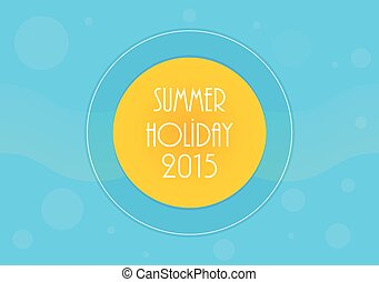 Summer holiday background, Vector illustration, eps10