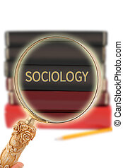Looking in on education - Sociology - Magnifying glass or...