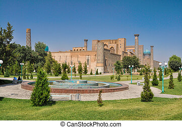 Samarkand in Turkmenistan - Beautiful view of ancient...