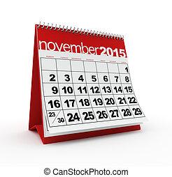 November 2015 calendar - November 2015 monthly calendar on...
