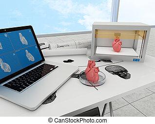 3d printed heart - 3d printing human body. 3d printed body...