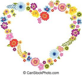 Heart Spring Flower Frame