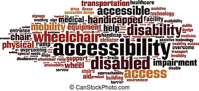 Accessibility word cloud concept Vector illustration