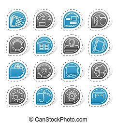 Computer and mobile phone icons