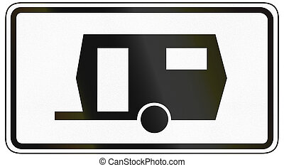 Caravans - German traffic sign additional panel to specify...
