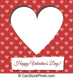 valentine card - Scrapbooking paper valentine card with...