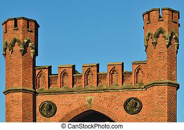 Rossgarten Gate - fortress of Konigsberg. Kaliningrad...
