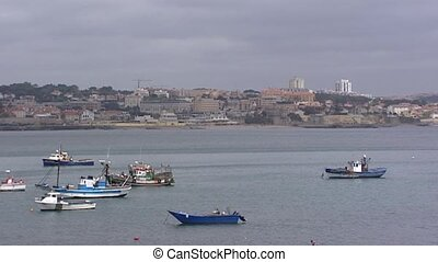 Fishing boats at Estoril Coast, Cascais
