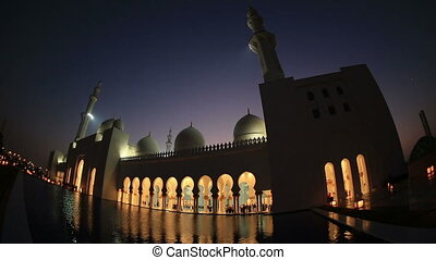 Sheikh Zayed Grand Mosque Abu Dhabi - reflection Sheikh...