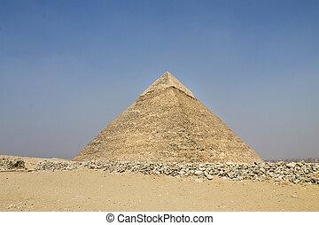 grande, piramide, de, Hefren, em, Giza,