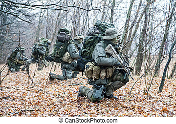 Group of jagdkommando soldiers Austrian special forces...