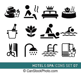 Hotel and Travel icons set 07