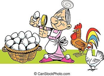 hostess at the bird farm
