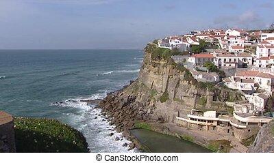 Cape Boca do Inferno + village on steep cliff - Village on...