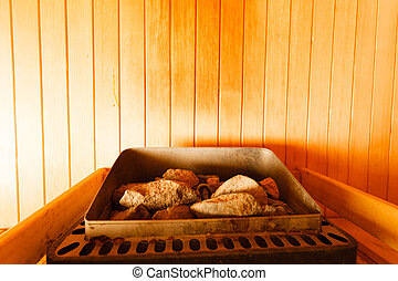 interior of finnish sauna - Beauty health spa and lifestyle...
