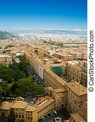 Vatican museums view - Cityscape of Rome, viwe to Vatican...