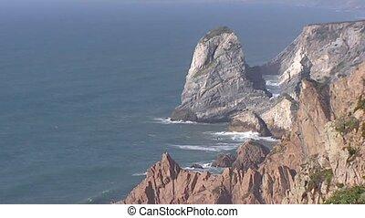 Cape Cabo da Roca at Atlantic coast, Portugal, is the...