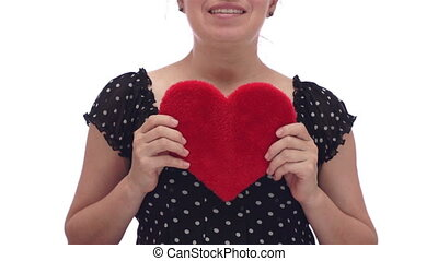 Woman Holds Out Her Heart