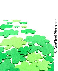 St Patricks Day border - St Patricks Day shamrock confetti...