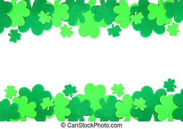 St Patricks Day frame - St Patricks Day double edge shamrock...